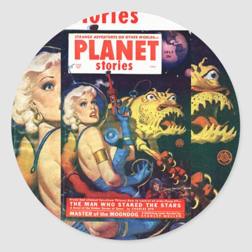 planet stories art sticker
