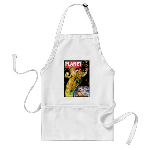 Planet Stories - Flame Jewel of the Ancients Aprons