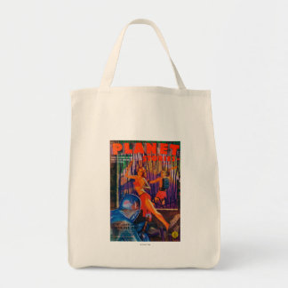 Planet Stories Magazine Cover 3 Grocery Tote Bag