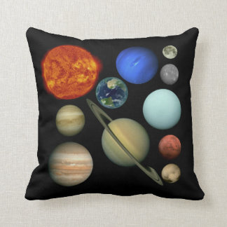 Planet the solar system throw pillow