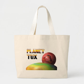 Planet Tux Jumbo Tote Bag