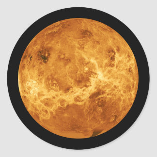 Planet Venus from Outer Space Classic Round Sticker