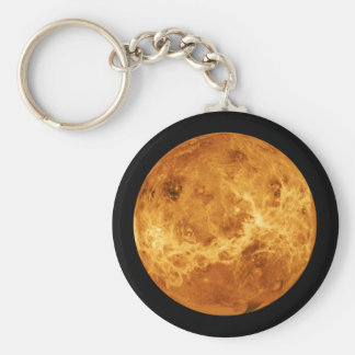 Planet Venus from Outer Space Key Ring