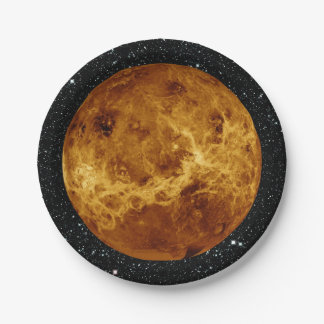 PLANET VENUS radar view star background ~ Paper Plate