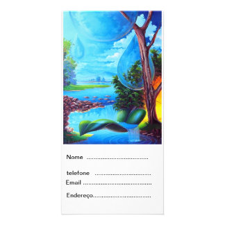 PLANET WATER by LEOMARIANO Personalized Photo Card