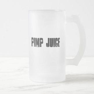 Planet X Designs Logo, PIMP JUICE Frosted Glass Beer Mug