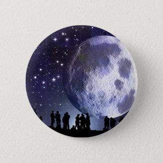 Planetarium Silhouettes Moon Stars Astronomy 6 Cm Round Badge