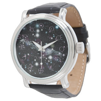 Planetary Glyph Deep Space Astronomy Wristwatch