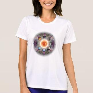 Planetary Mandala Ladies Performance Micro-Fiber T Tee Shirts