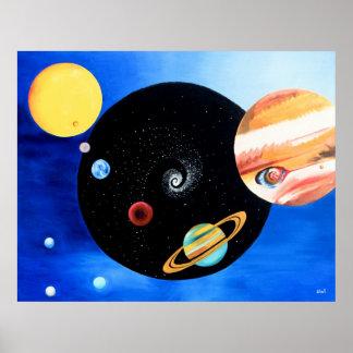 Planetary Mandala Poster