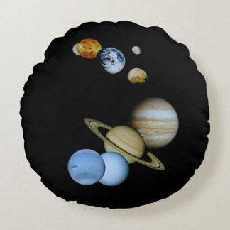 Planetary Montage Round Cushion