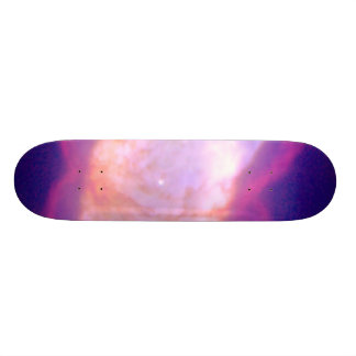 Planetary Nebula NGC 7027 in Infrared and Visible Skate Board Deck