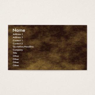 Planetary Terrain Business Card