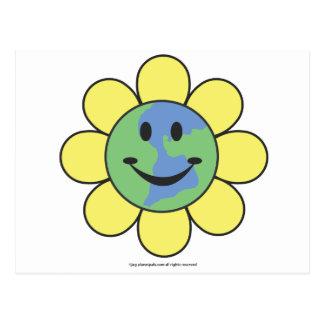 Planetpals-Flower Power Love Earth Design Postcard