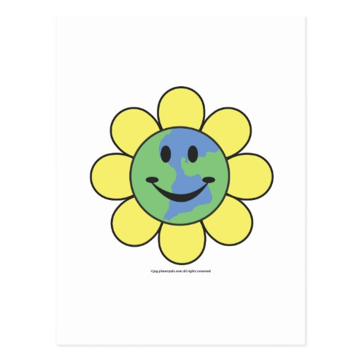 Planetpals-Flower Power Love Earth Design Postcards