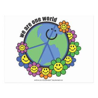 Planetpals-We Are One World Peace Love Earth Postcard
