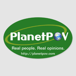 PlanetPOV - Oval Sticker