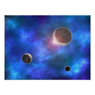 Planets and Nebulae Poster