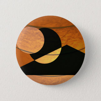 Planets Glow, Black and Copper, Graphic Design 6 Cm Round Badge
