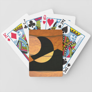Planets Glow, Black and Copper, Graphic Design Bicycle Playing Cards