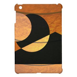 Planets Glow, Black and Copper, Graphic Design Cover For The iPad Mini