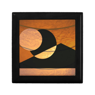 Planets Glow, Black and Copper, Graphic Design Gift Box