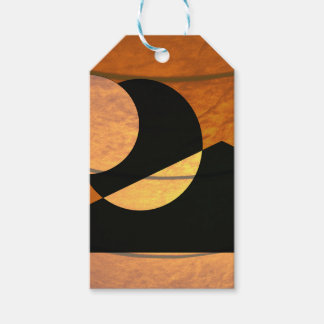 Planets Glow, Black and Copper, Graphic Design Gift Tags
