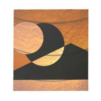 Planets Glow, Black and Copper, Graphic Design Notepad