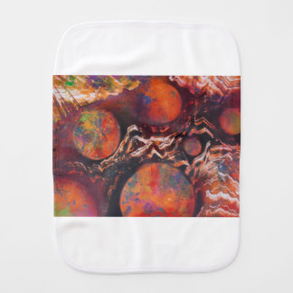Planets in cosmic waves burp cloth