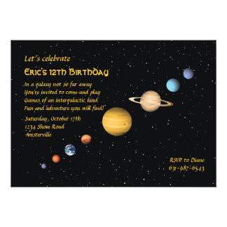 Planets in Space Invitation