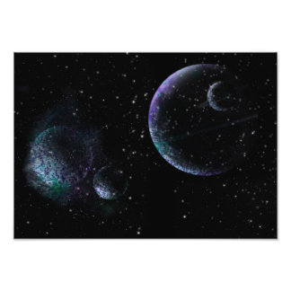 Planets in Universe Photo Print