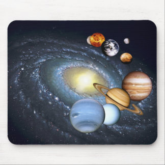 Planets Milkyway Mouse Pad