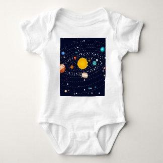 Planets of Solar System 2 Baby Bodysuit