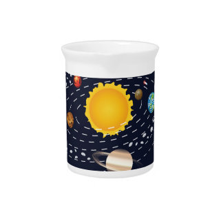 Planets of Solar System 2 Beverage Pitchers