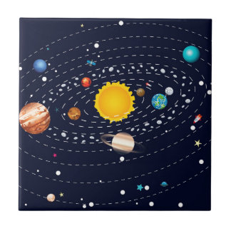 Planets of Solar System 2 Ceramic Tile