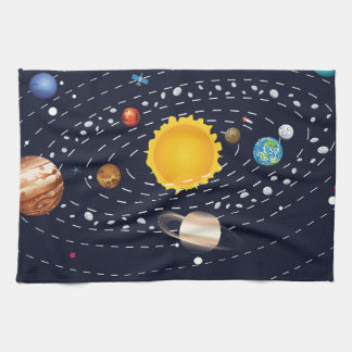 Planets of Solar System 2 Tea Towel