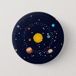 Planets of Solar System 6 Cm Round Badge
