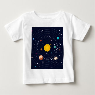 Planets of Solar System Baby T-Shirt