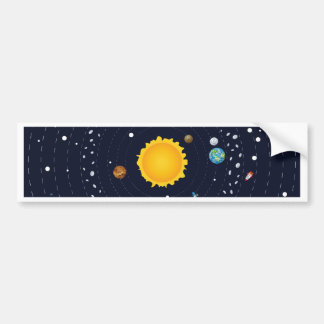 Planets of Solar System Bumper Sticker