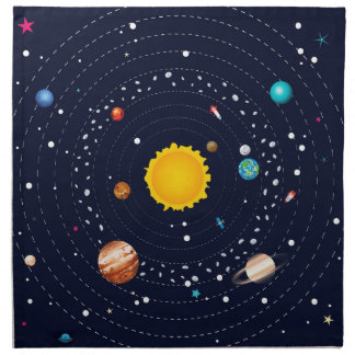 Planets of Solar System Napkin