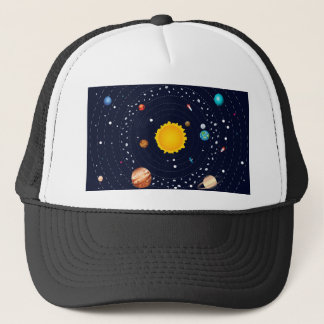 Planets of Solar System Trucker Hat