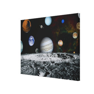 Planets of the Solar System Stretched Canvas Prints