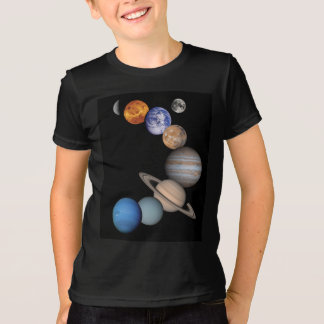 Planets of the solar system tee shirt