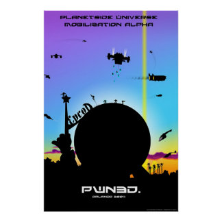 PlanetSide Universe Mobilization Alpha Poster
