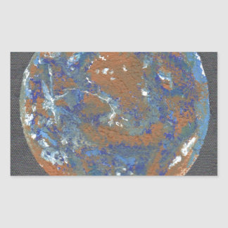 Planey Mercury Rectangular Sticker
