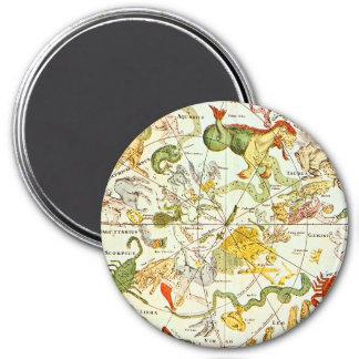Planisphæri Cœleste 1698 - Astrology Chart #1 7.5 Cm Round Magnet