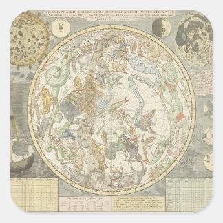 Planisphaerii Coelestis Hemisphaerium Square Sticker