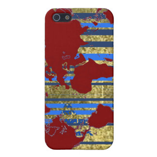Planisphere-World Map iPhone 5 Cover