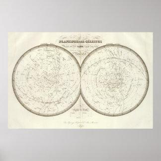 Planispheres celestes - Celestial Poster