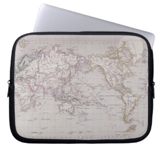 Planispheric Map of the World Computer Sleeve